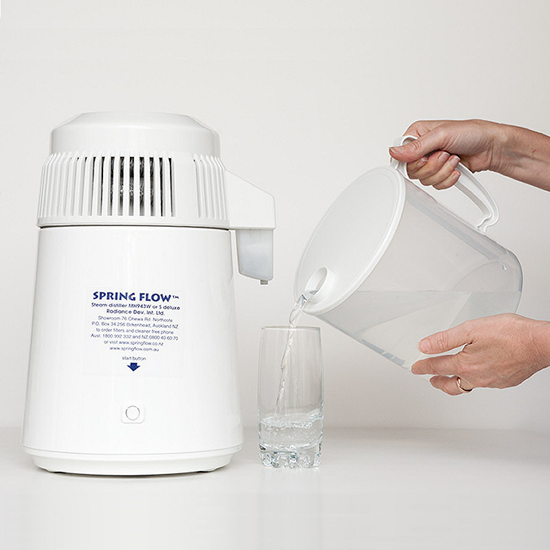 Spring Flow Steam Distiller - White Deluxe